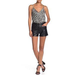 NWT Love, Fire High Waist Faux Leather Shorts